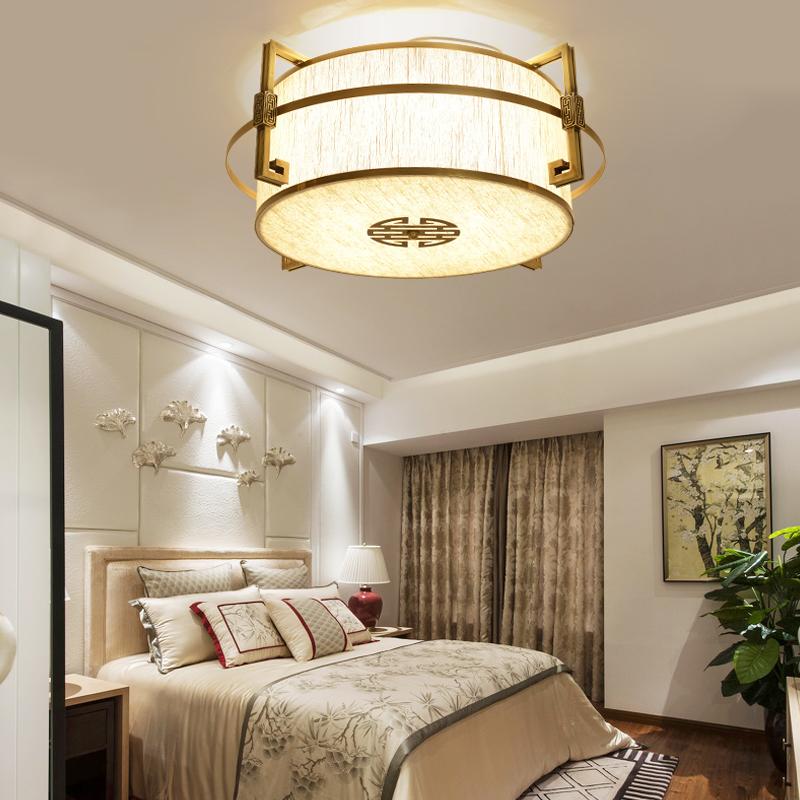 新中式全铜吸顶灯客厅灯古典卧室书房餐厅吸顶灯创意酒店房间灯