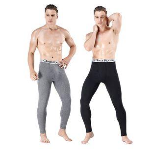 2条装秋冬季新款男士加绒保暖裤薄款秋裤青中老年贴身打底裤修身