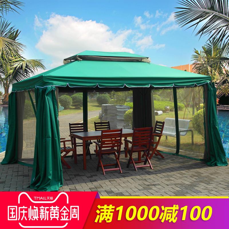 精欧户外 庭院帐篷遮阳棚雨棚亭子 室外四角凉亭移动小型房子定制