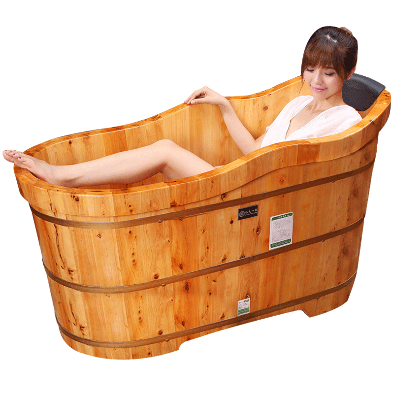 水天一方木桶浴桶成人 香柏木泡澡木桶 实木浴缸木质沐浴盆洗澡桶