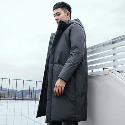 冬季羽绒服男中长款2018新款白鸭绒韩版帅气休闲保暖男士加厚外套