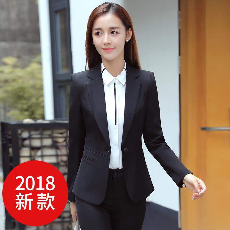 西服套装女工作服女士职业装2018新款女装正装工装春季时尚西装