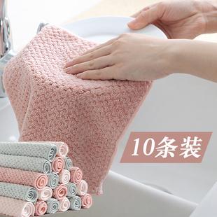 加厚抹布厨房用品家务清洁布基本不掉毛不沾油洗碗巾擦桌子洗碗布