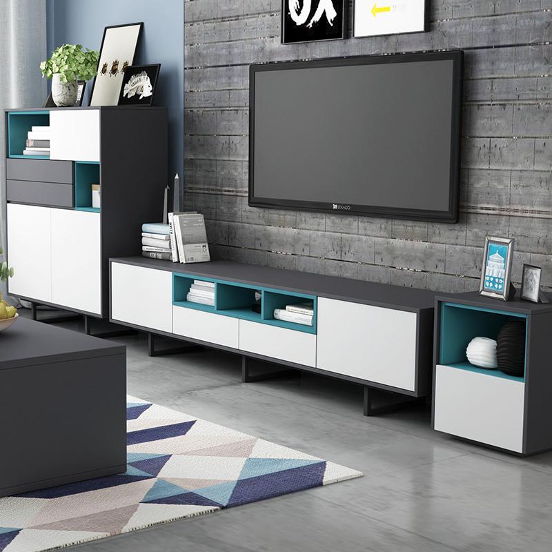 光一 北欧电视柜茶几组合套装1.8 2米简约现代小户型迷你客厅地柜