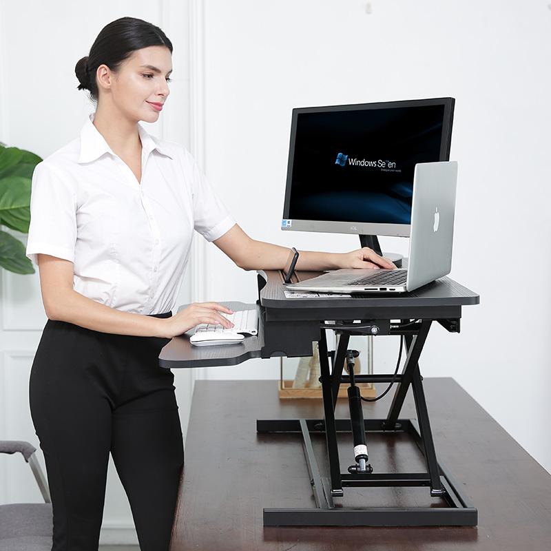 站立式电脑升降桌笔记本办公电脑台免安装桌上桌书桌工作台可折叠