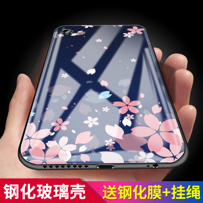 Apple 6 mobile phone shell 6plus sets of iPhone6 ​​glass tide luxury female models 6p all inclusive 6sp silicone 6p drop six