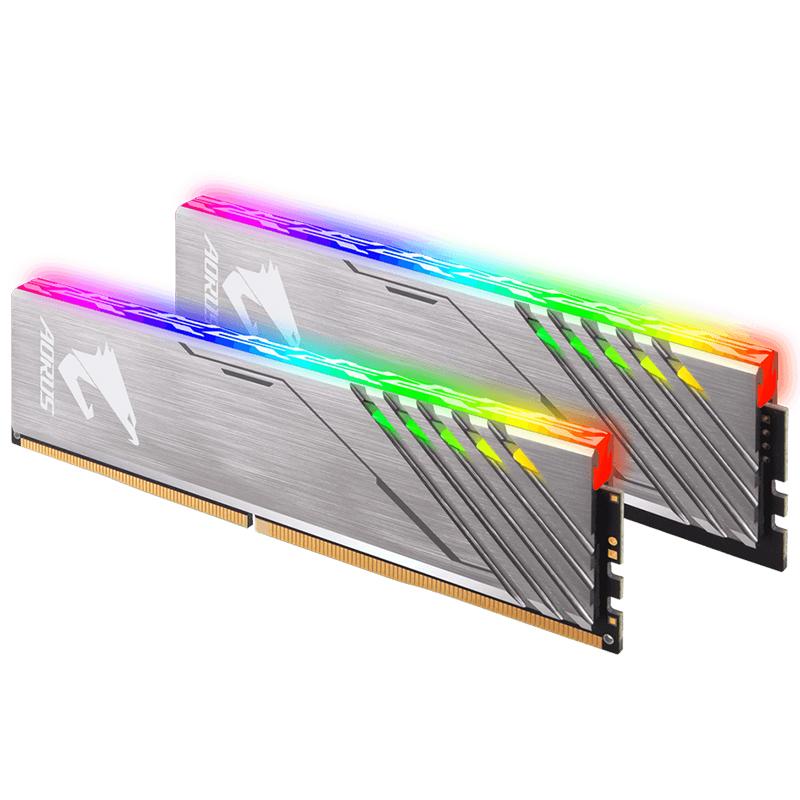技嘉AORUS RGB幻彩内存条 DDR4 3200MHz 16G套条8Gx2台式电脑马甲
