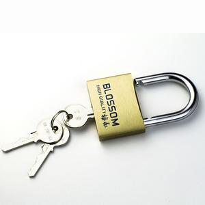梅花锁 防盗铜挂锁防水防锈长梁通开挂锁家用学生抽屉柜子小锁头