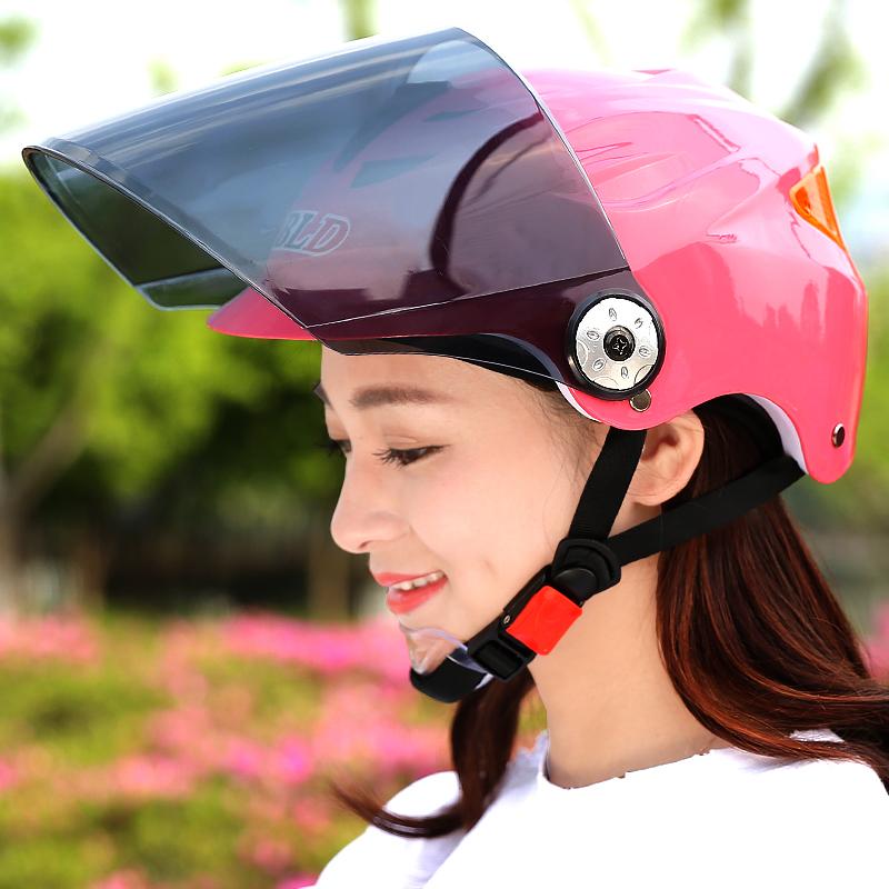 百利得电动摩托车头盔男电瓶车头盔女款四季半盔防紫外线安全帽