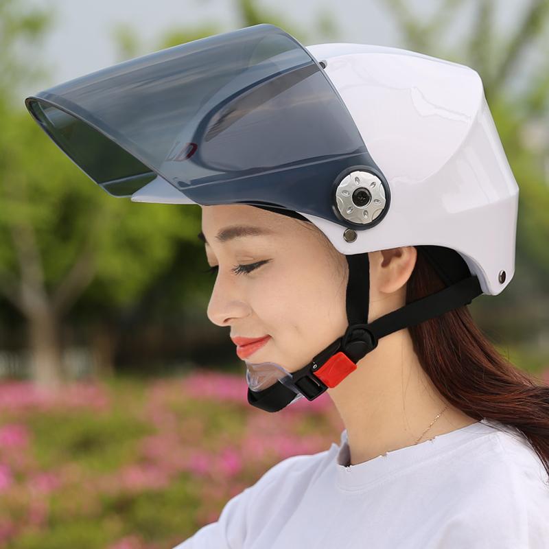 百利得电动车摩托车头盔女头盔男夏季防晒防紫外线四季通用安全帽