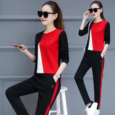 休闲运动套装女夏2018新款宽松时髦潮韩版时尚显瘦短袖大码两件套