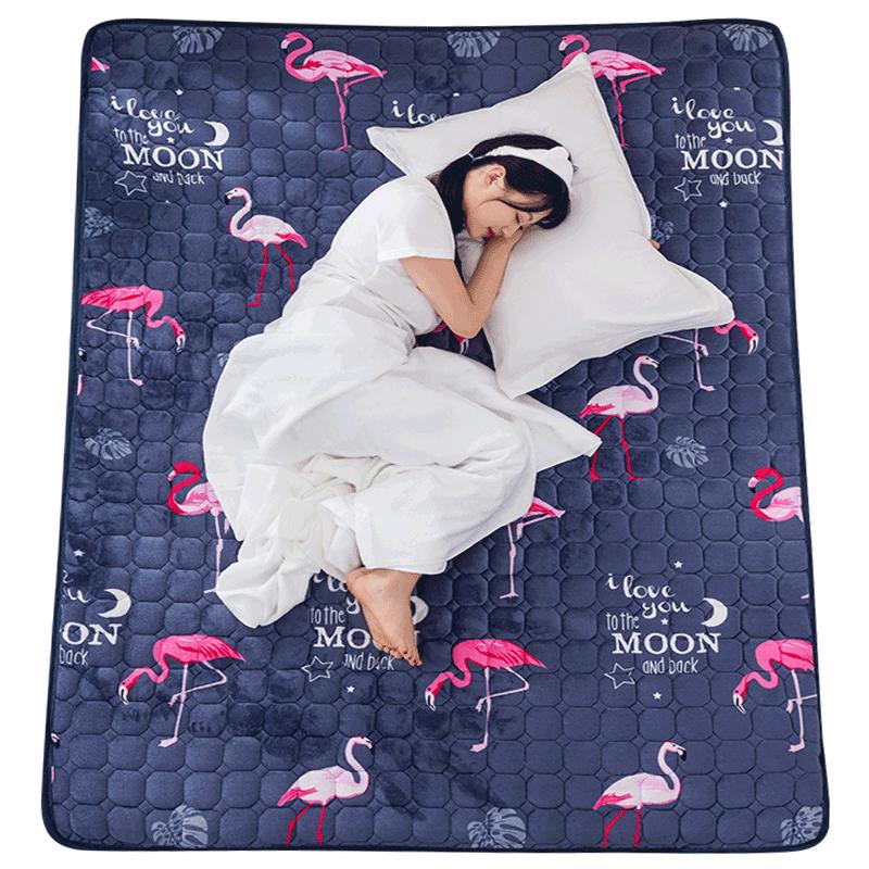 法兰绒床垫软垫褥子1.8m床1.5m学生宿舍单人垫被床褥租房薄款垫子
