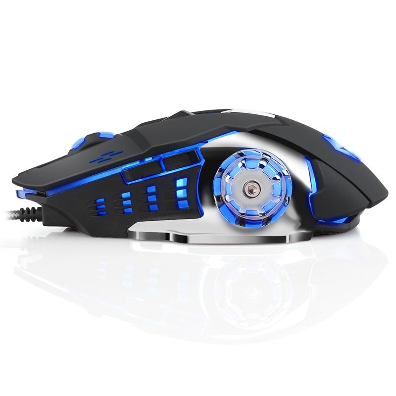 狼途机械鼠标有线电竞牧马人游戏笔记本台式家用USB宏编程