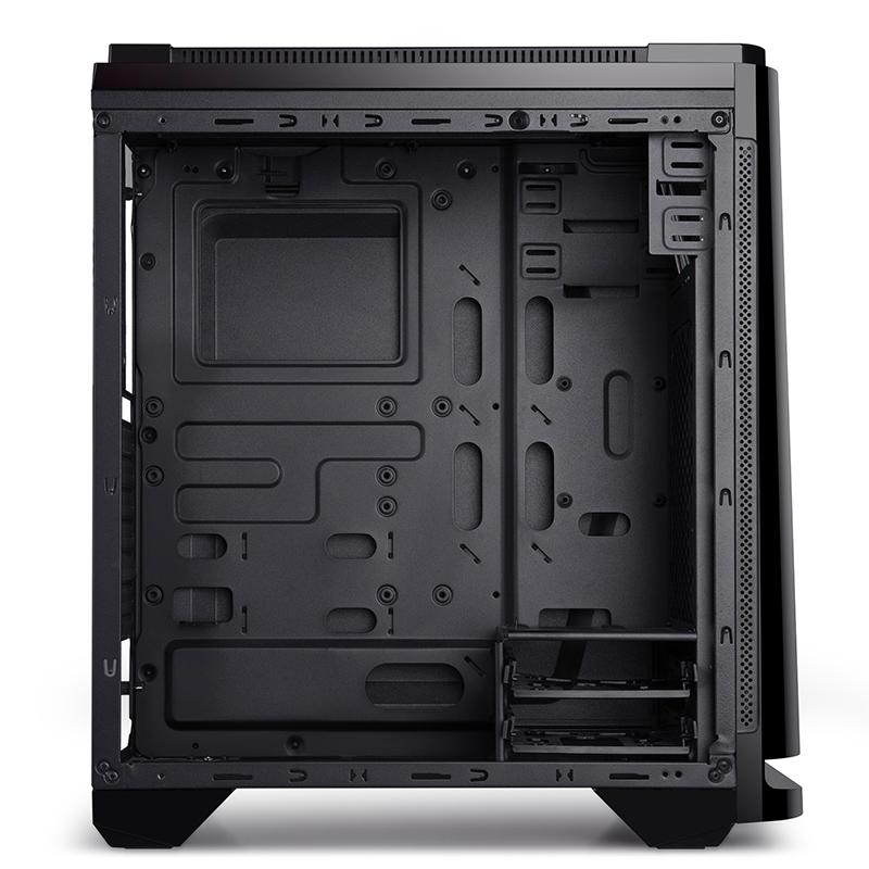 金河田预见N19电脑机箱台机组装机箱玻璃支持背线侧透水冷ATX机箱