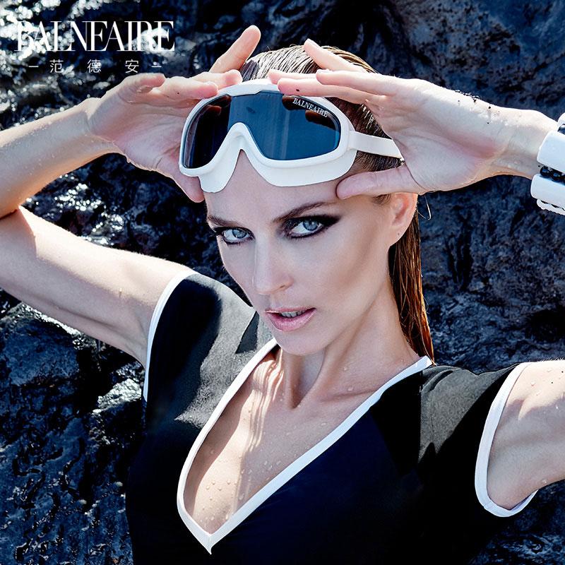 范德安2018新款大框泳镜 防水防雾高清游泳眼镜 男女通用成人泳镜