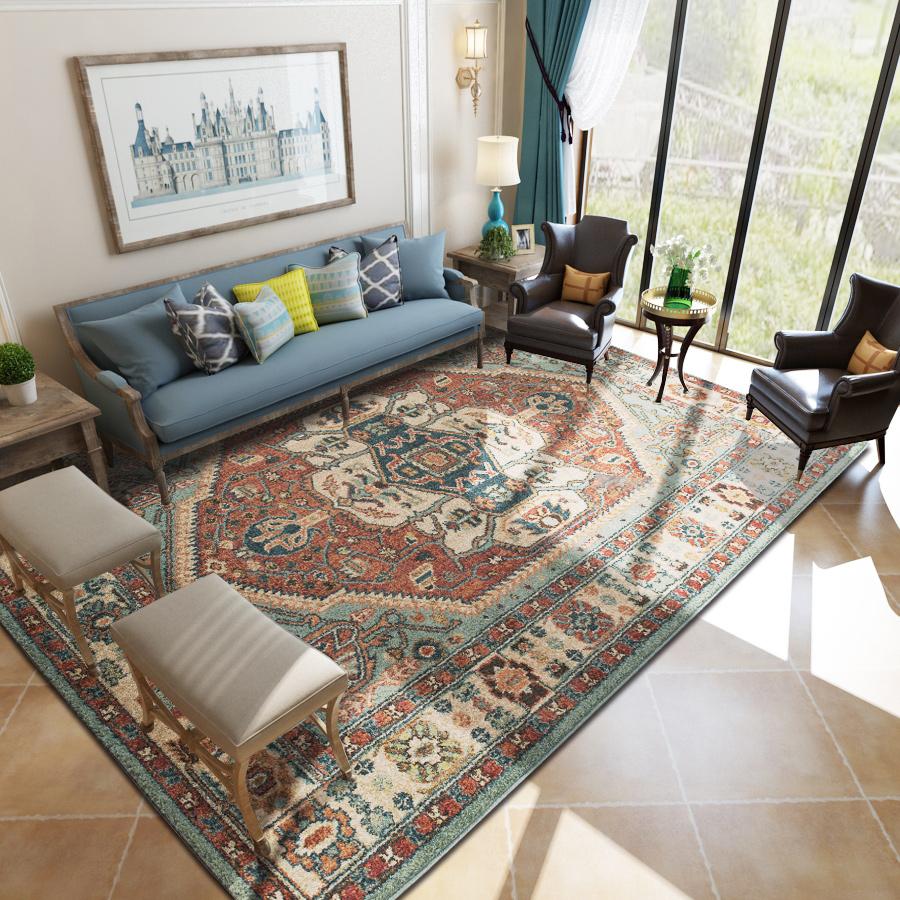 梦雯土耳其进口地毯客厅茶几简约现代卧室床边美式法式长方形北欧