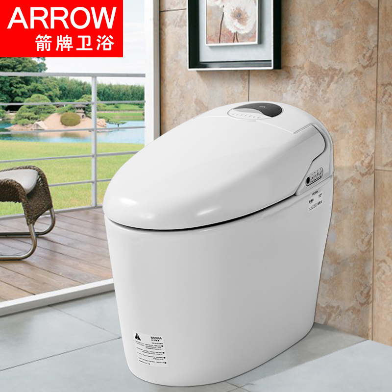 箭牌卫浴一体式智能马桶无水箱即热自动烘干妇洗坐便器AKE1101