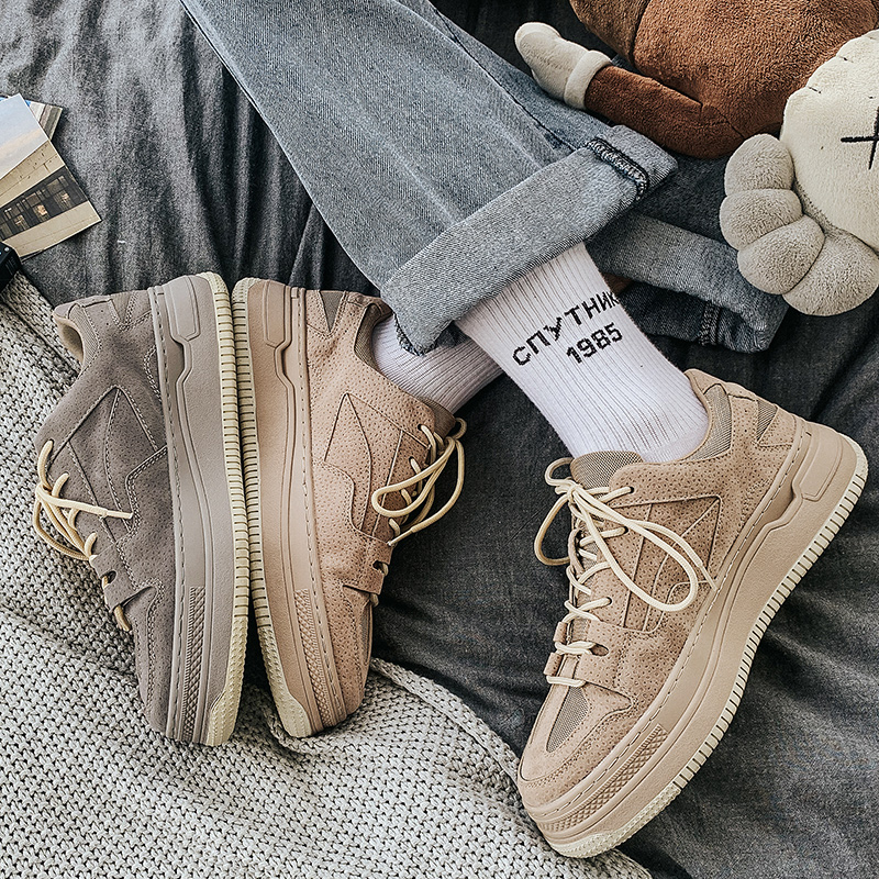 夏季透气男鞋运动休闲鞋增高板鞋