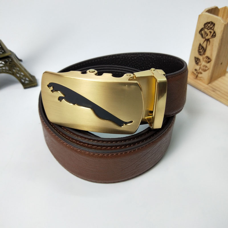 new_goods/Men's lead layer cowhide youth leisure automatic belt buckle...