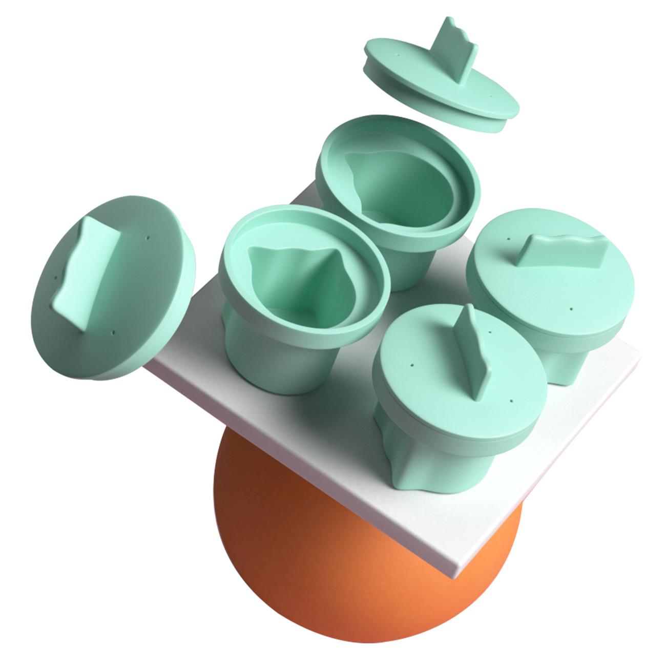 食品级宝宝婴儿辅食蒸糕蒸蛋模具耐高温可蒸煮儿童烘焙工具磨具