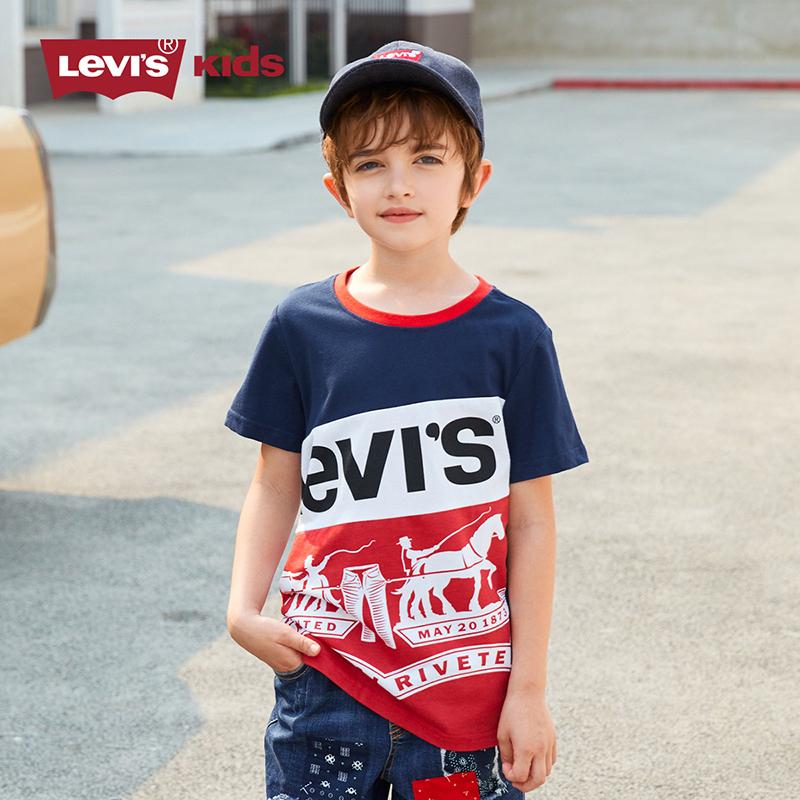 Levi's 李维斯 21年夏季新款 LOGO款时尚儿童短袖T恤 天猫优惠券折后¥79包邮(¥109-30)男、女童80~160码多色可选