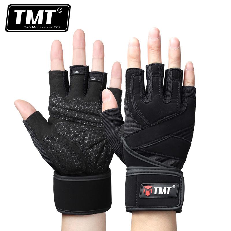 TMT健身手套男士健身房动感单车哑铃器械训练半指护腕透气防滑夏