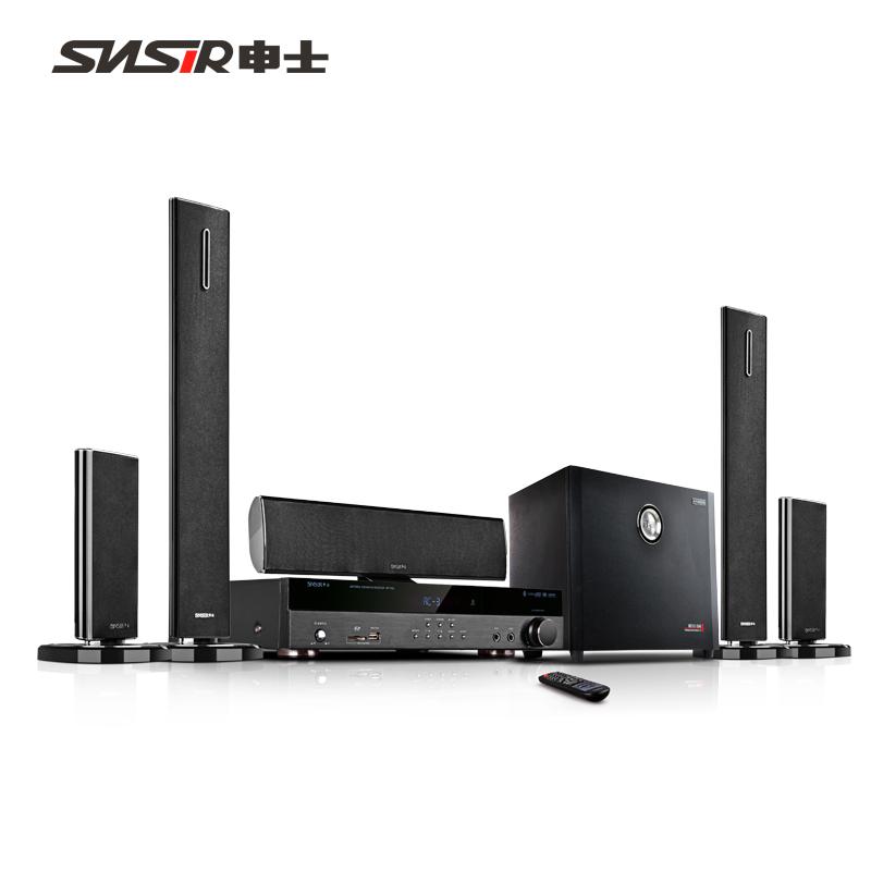 SNSIR-申士 301 5.1家庭影院音响套装无线环绕家用客厅电视音箱落地式立柱全套专业卡拉OK重低音K歌功放组合