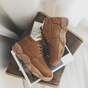 2018冬季新款女百搭棉鞋学生加绒雪地靴短筒冬鞋保暖加厚防滑运动