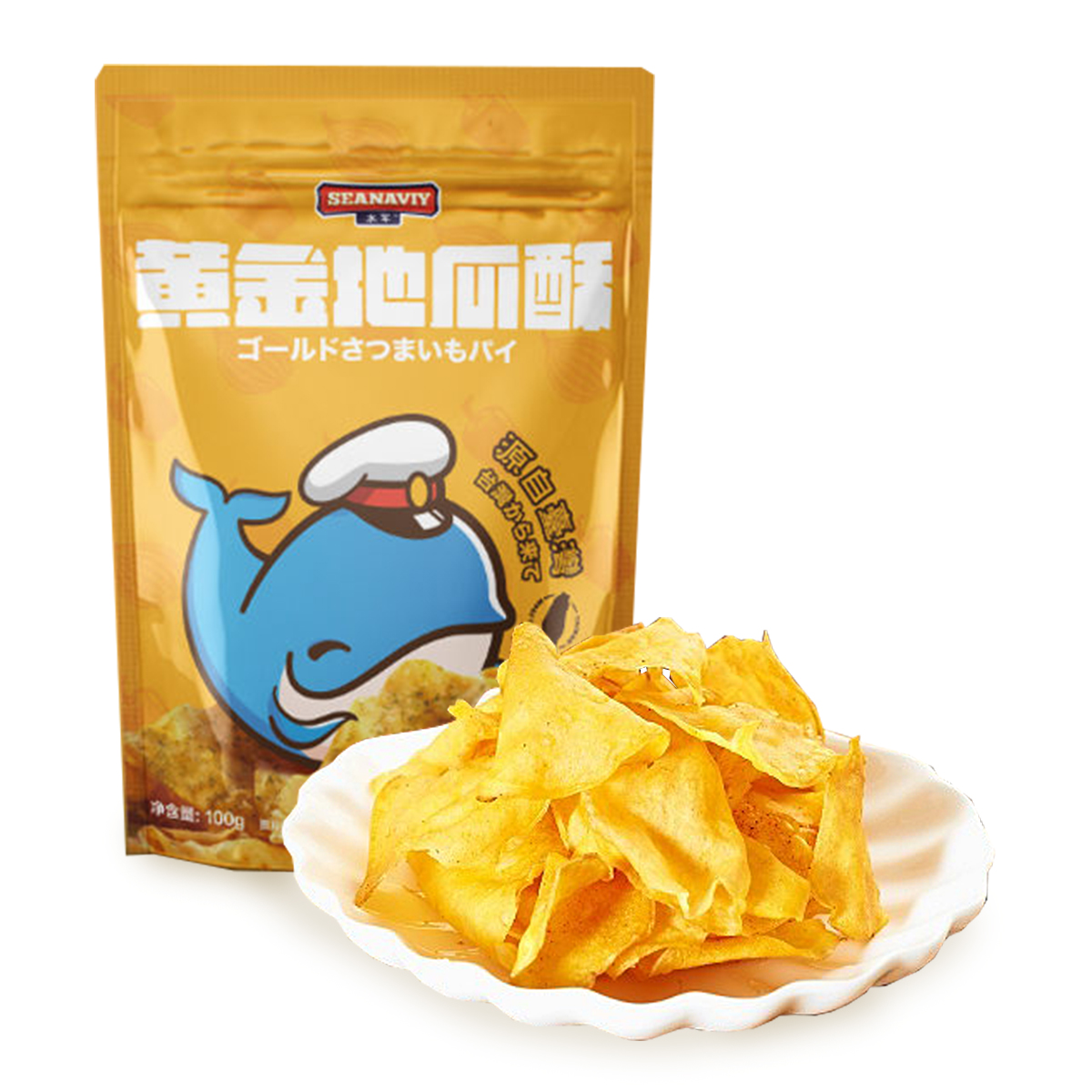 地瓜干薯片酥脆台湾进口纯天然香葱味特产非油炸休闲小零食礼包邮