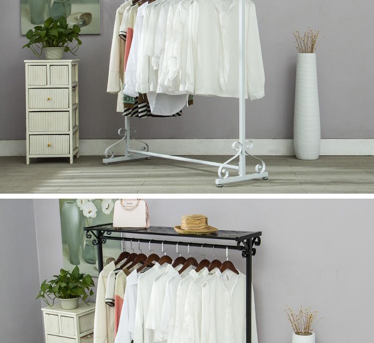 室内落地衣架阳台晾衣杆卧室挂衣架简易衣架单杆式衣服 阿里巴巴