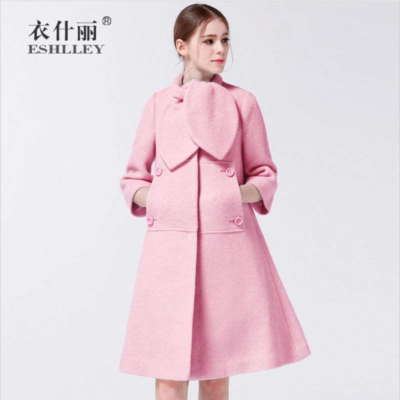 秋冬斗篷羊毛呢大衣女中长款 加厚呢子外套