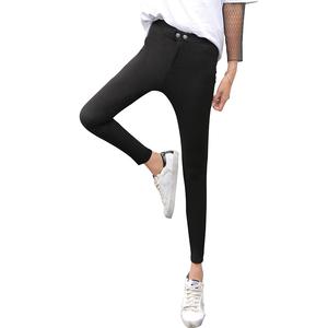 魔术黑色打底裤女裤外穿春秋薄款2020新款小黑裤显瘦高腰小脚百搭