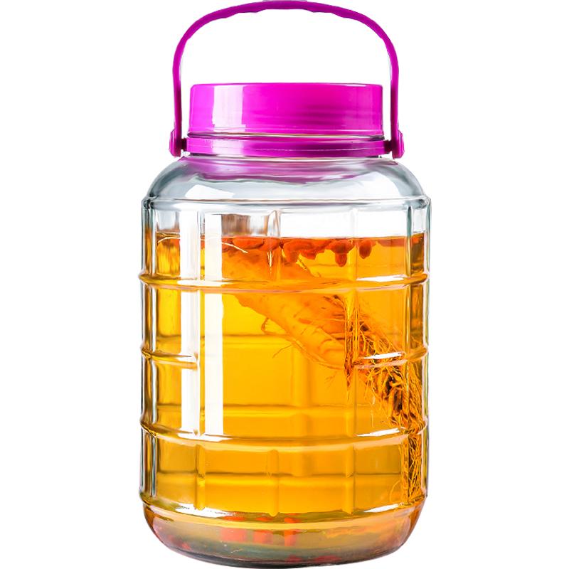泡酒玻璃瓶带龙头酒坛泡菜坛子家用酵素桶酿酒泡酒瓶子10斤密封罐