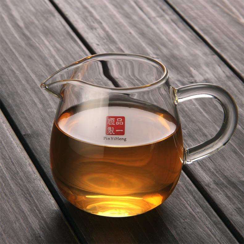 加厚耐热玻璃茶海公道杯倒茶功夫茶具茶漏套装公杯分茶器配件家用