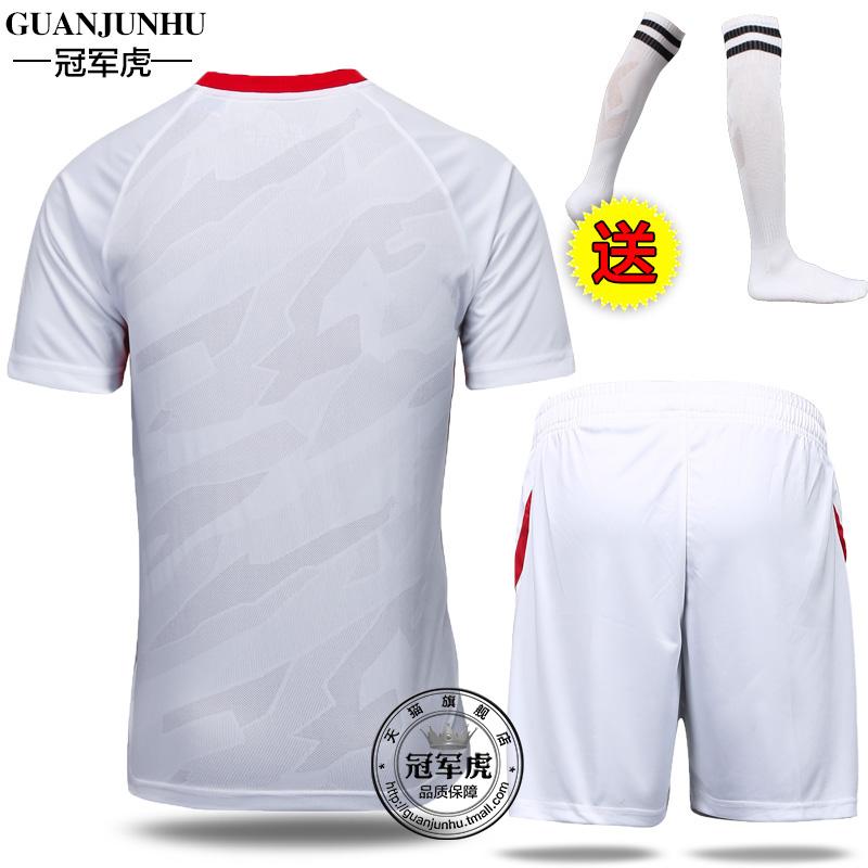 正品足球服套装 成人儿童男足球衣 定制足球衣队服 足球训练服产品展示图5