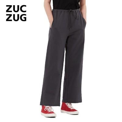 ZUCZUG-素然棉弹毛圈针织布松直筒裤 Z173PA16