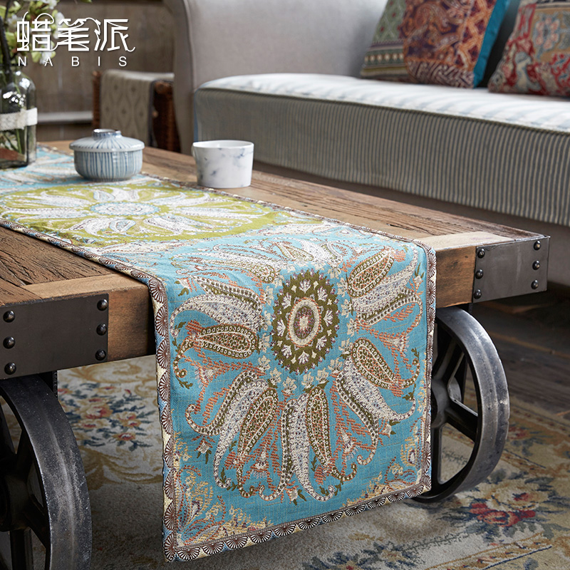 Crayon Pie Tablecloth Linen Texture Jacquard Coffee Table Fabric Chinese  And American Style Modern Round Tablecloths Set