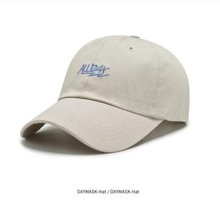 新款网 红ins帽子潮牌棒球帽夏天鸭舌帽男遮阳字母百搭太阳帽刺绣