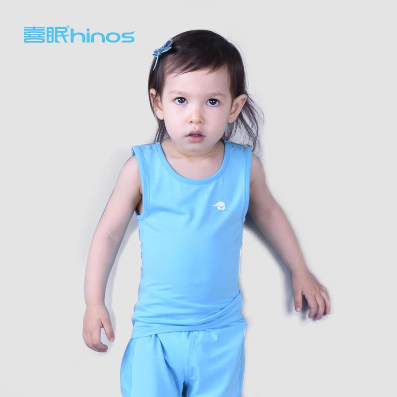 喜眠hinos儿童背心薄款男女宝宝排汗睡衣婴儿贴身无袖内衣家居服