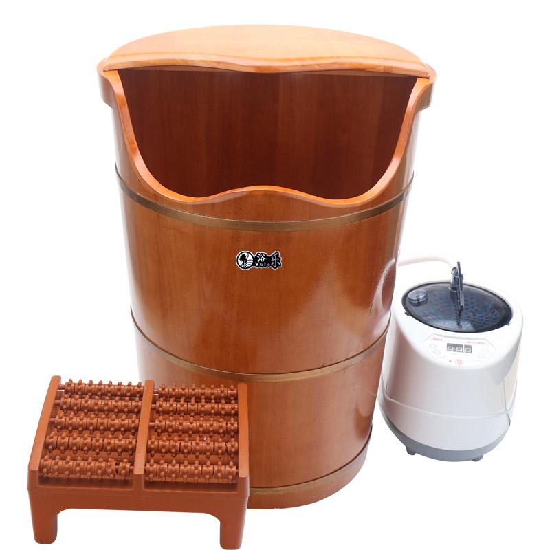 浴乐橡木泡脚木桶妇科私处熏蒸桶蒸脚桶足浴桶恒温蒸汽成人洗脚盆