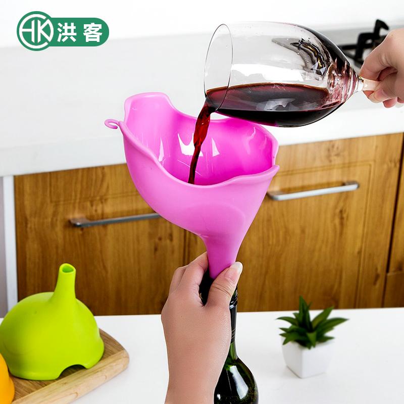 可爱小象漏斗 厨房多功能炫彩漏斗 居家厨房水漏 油漏