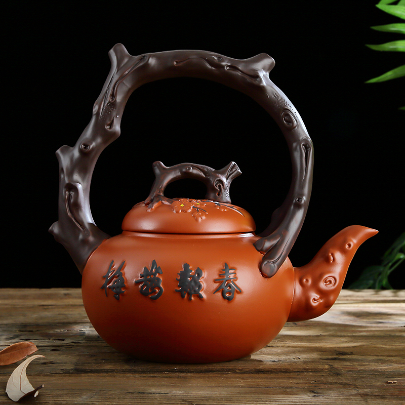 A large single pot of ore kung fu tea pot teapot it the large capacity of A complete set of ceramic household girder
