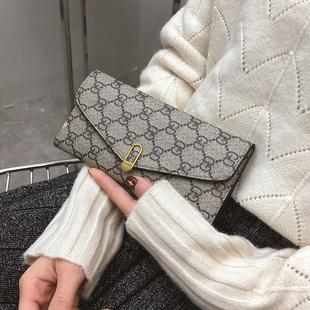 钱包2018新款女韩版女士钱包女长款拉链皮u钱夹皮夹大容量手拿包