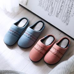 棉拖鞋秋冬季室内男女情侣包跟厚底保暖家居家用毛绒拖鞋冬天