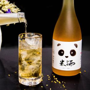熊猫女士低度糯米酒米露甜酒桂花酒桂花酿高度微醺晚安酒少女果酒