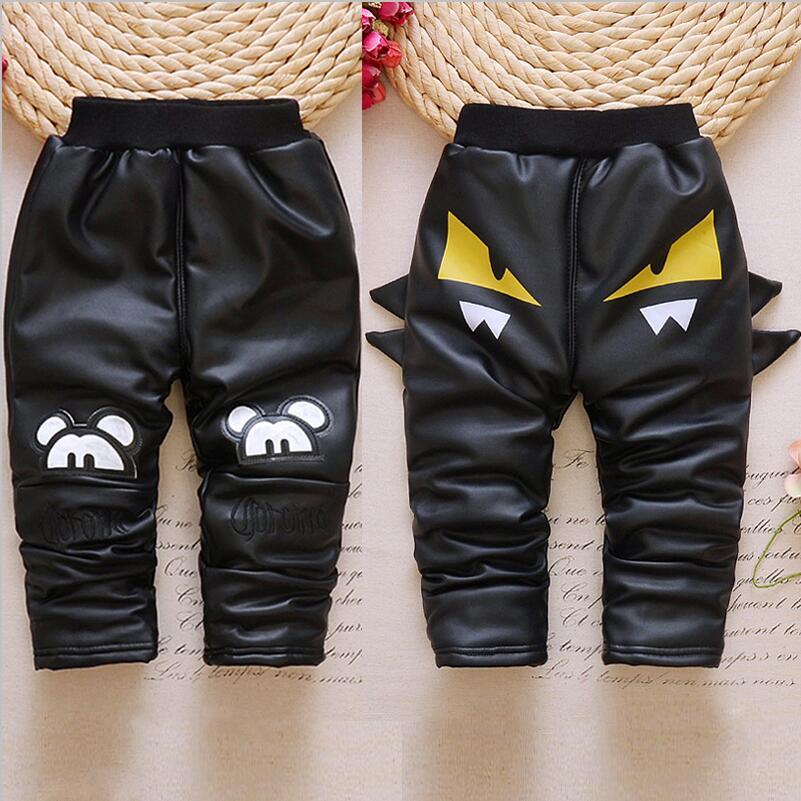 儿童加绒加厚皮棉裤男女童0-5岁宝宝三层加厚外穿保暖可开档皮裤