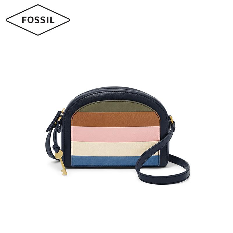 Fossil2019春夏新款潮流摩登半月形手提斜挎包女士包袋ZB7633