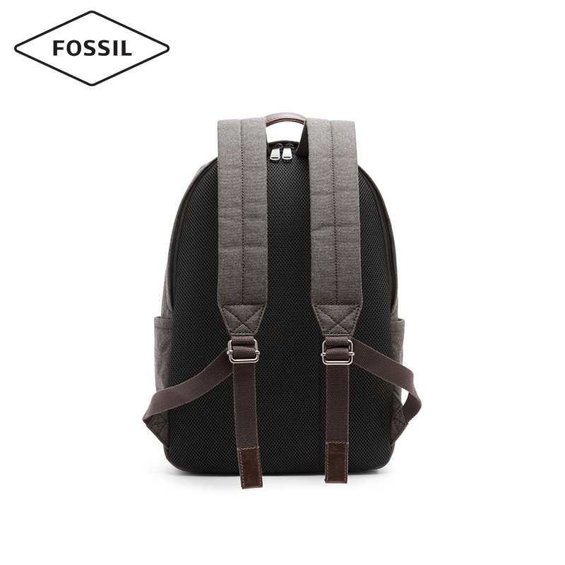 Fossil欧美休闲通勤个性拼色帆布男士双肩背包男MBG9364