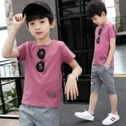 男童夏装2019新款套装中大童夏季韩版童装儿童运动短袖短裤两件套