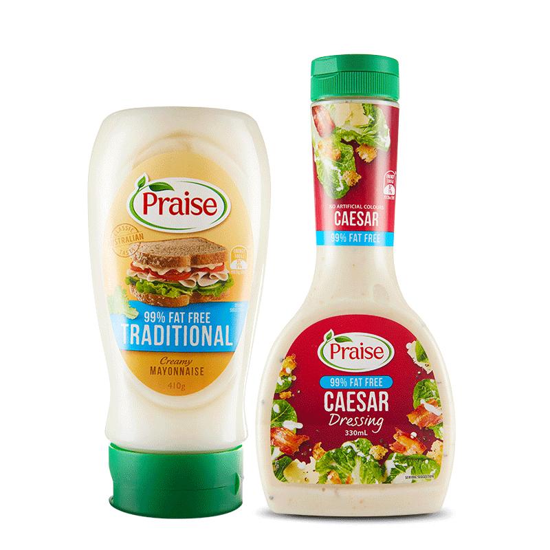 派乐斯Praise澳洲低脂沙拉酱蛋黄酱0脂油醋汁低卡三明治进口酱料